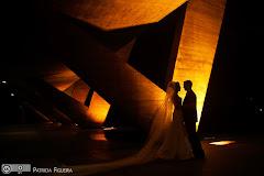 Foto do casamento de Paloma e Marcelo. Museu de Arte Moderna (MAM), Rio de Janeiro, RJ.