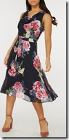 Billie and Blossom Navy Floral Midi Dress