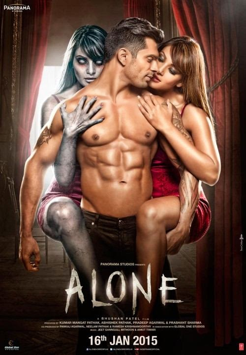 Poster Of Hindi Movie Alone (2015) Free Download Full New Hindi Movie Watch Online At Alldownloads4u.Com