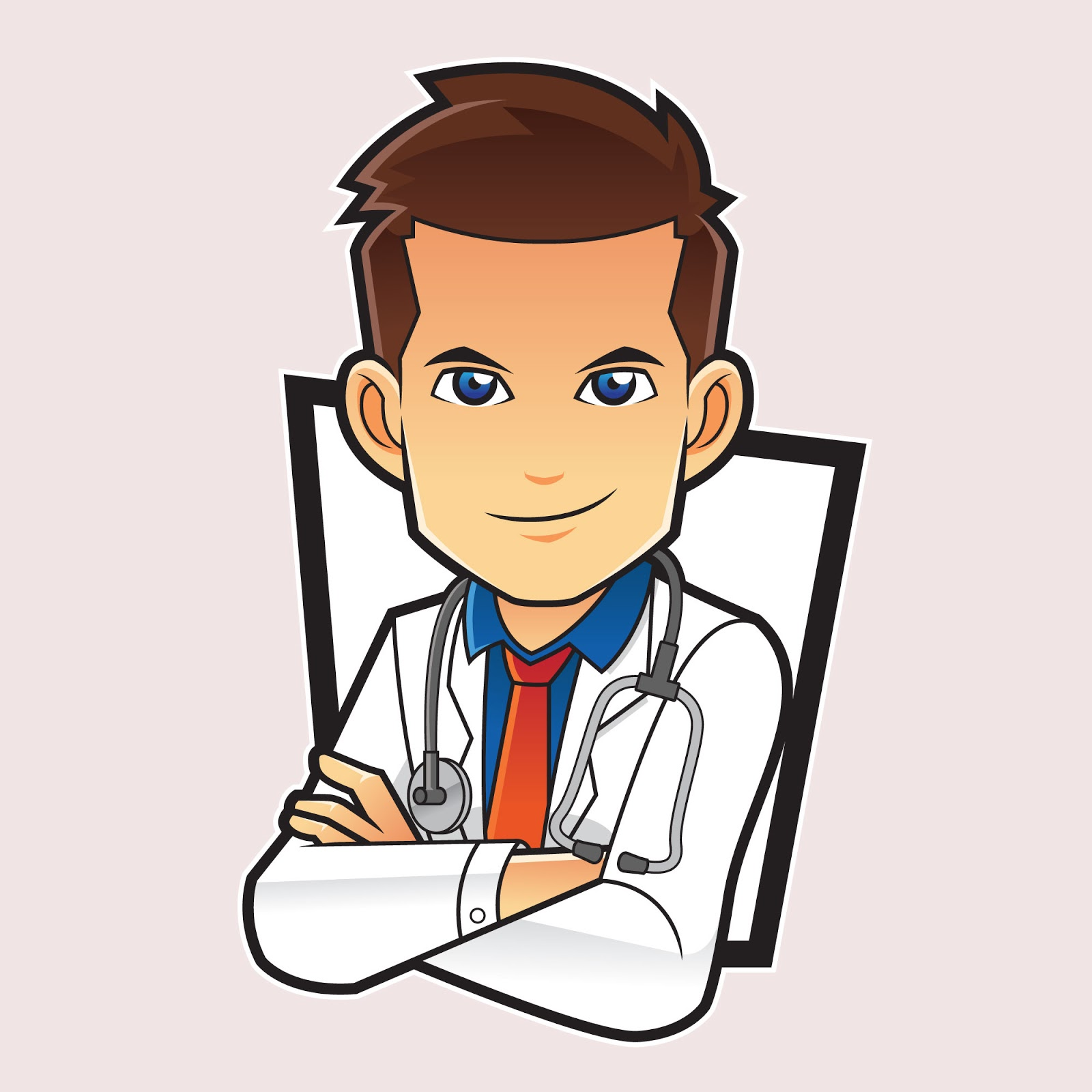 Doctor Mascot Character Funny Free Download Vector CDR, AI, EPS and PNG Formats