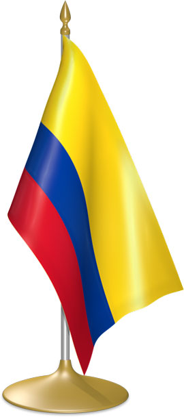 Colombian table flags - desk flags