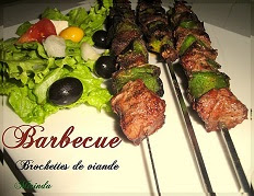 recette des brochettes de boeuf au barbecue