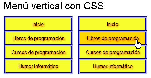 menu vertical css