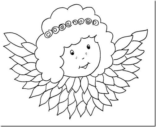 angeles navidad colorear (9)