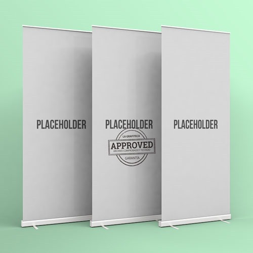 9 sets de mockups para roll-up en psd
