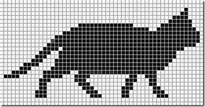 siluetas gatos punto de cruz monocromo  (17)