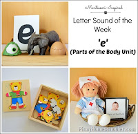 Letter E: Parts of the Body Unit Activities