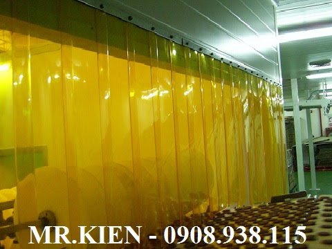 Rèm nhựa PVC vàng