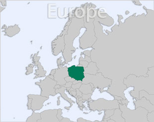 Poland location map