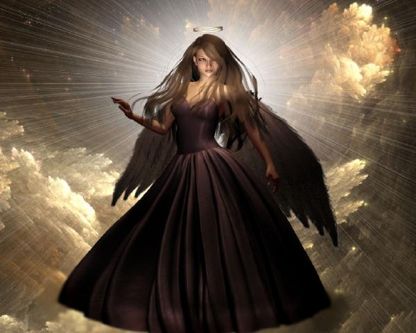Dark Holy Angel In The Light, Gothic