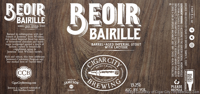 Cigar City & Jameson Collaborate On Beoir Bairille