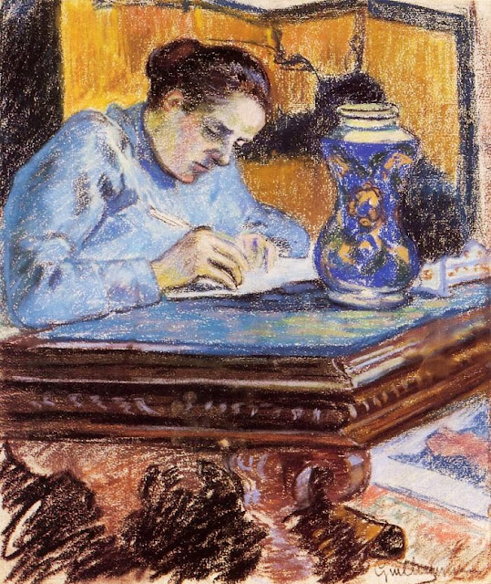 Armand Guillaumin - Portrait of Madame Guillaumin
