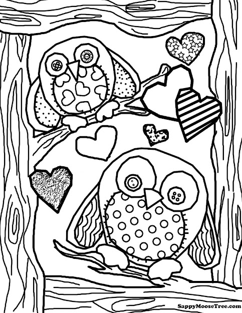 Adult Owl Colouring Pages Page  Special Coloring Pages Of Owls For Adults