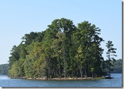 Island on Lake Murray