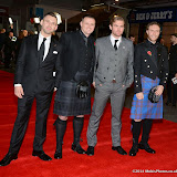 WWW.ENTSIMAGES.COM -    Benjamin O'Mahony, Scott Kyle, Mark Stanley and David Elliot      at        Kajaki - UK film premiere at Vue West End Leicester Square, London November 12th 2014Paul Katis's true life drama, about a group of British soldiers who were trapped in a minefield while stationed at the Kajaki Dam in Afghanistan in 2006.                                              Photo Mobis Photos/OIC 0203 174 1069
