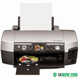 How to reset flashing lights for Epson R340 printer
