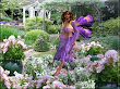Purple Fairy In The Garden