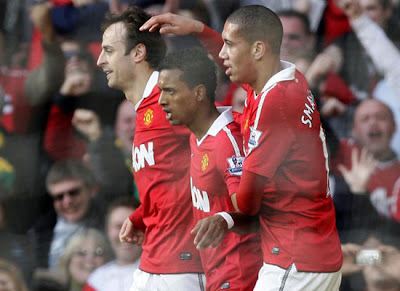 Dimitar Berbatov-Luis Nani-Chris Smalling