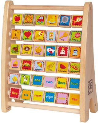 Bàn tính ABC bằng gỗ Hape Alphabet Abacus