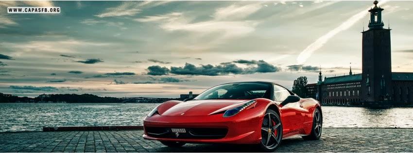 Capas para Facebook Ferrari Vermelha
