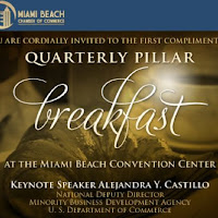 In addition to the many benefits included in a Pillar Membership at the Miami Beach Chamber of Commerce, Pillar members are entitled to network with other Pillar members at four exclusive complimentary Pillar breakfasts throughout the year.