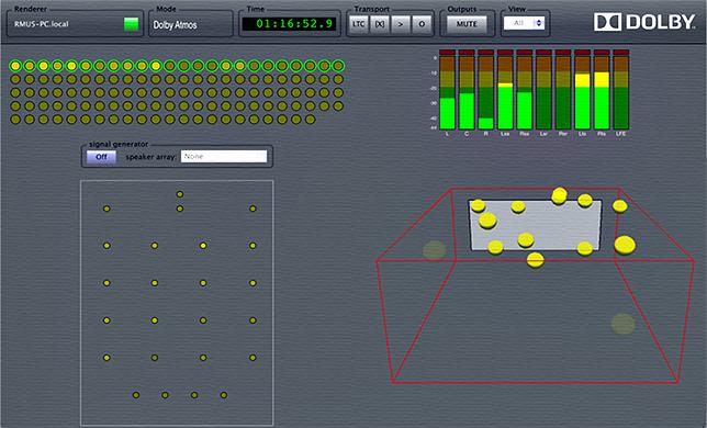 Software Dolby Atmos para posicionar objetos