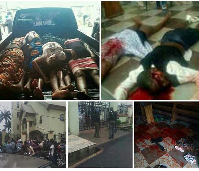 OZUBULU GRUESOME MURDER: GUN MEN ATTACK ST. PHILIPS CATHOLIC CHURCH WORSHIPERS IN NIGERIA
