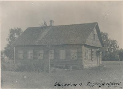 Загривье, школьное здание до 1934 годаФото прим. 1923 г.(RM F 105:156 SA Virumaa Muuseumid)
