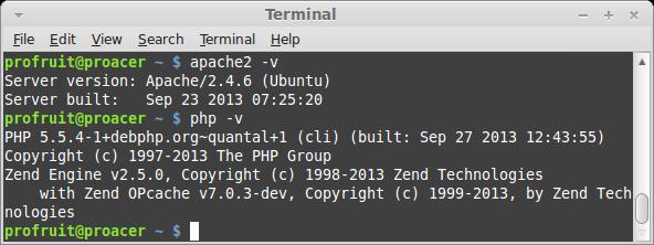 PHP 5.5 и  Apache 2.4 в Ubuntu