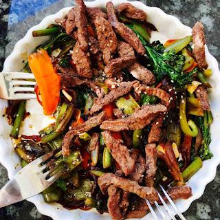 Tenderstem Broccoli And Buffalo Hoisin Stir Fry