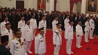 Presiden Resmi Melantik 9 Gubernur dan Wakil Gubnernur Hasil Pilgub 2018