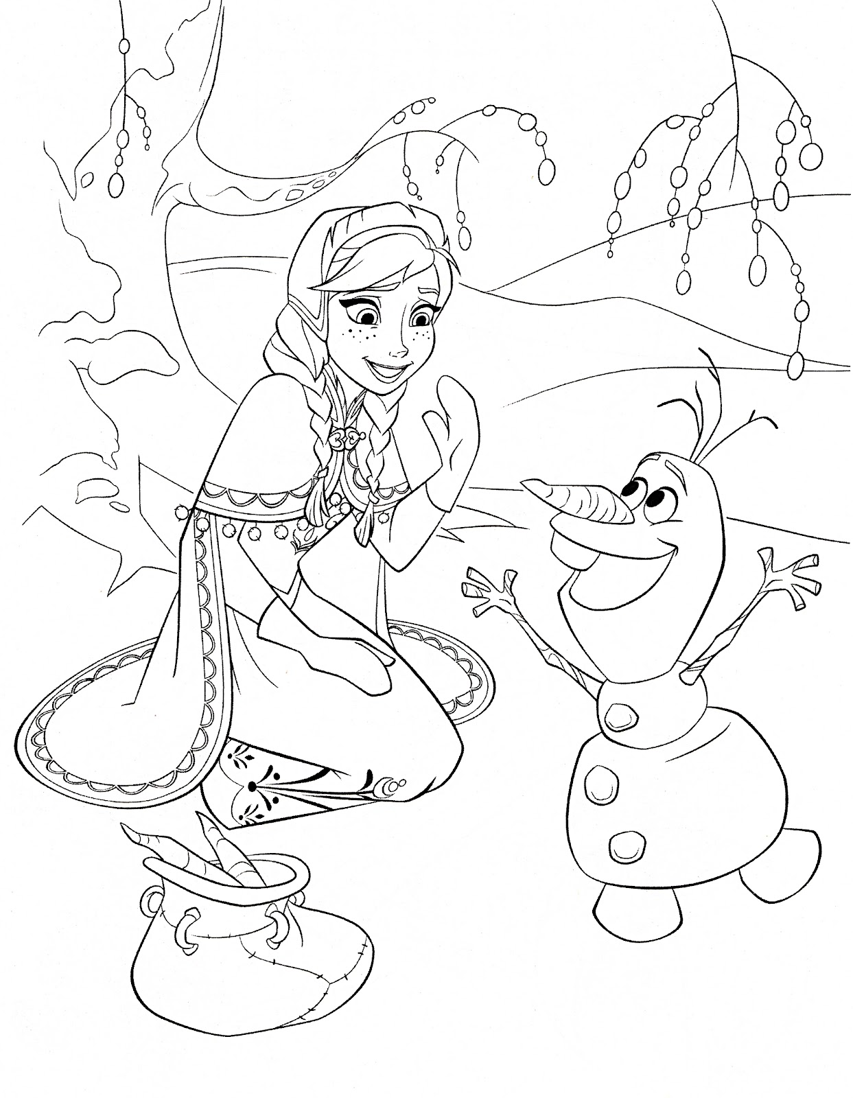 Small Frozen Coloring Pages : Best frozen coloring pages for girls library