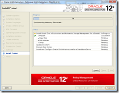 Oracle Grid Infrastructure 12c Installer - Install Product