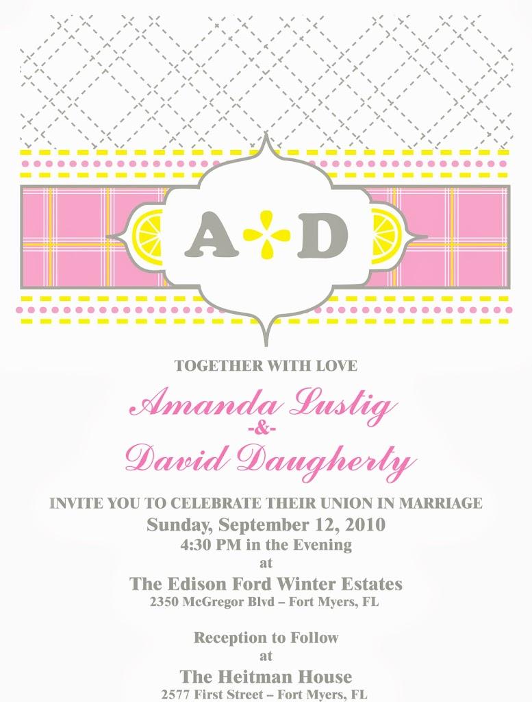 Lemonade Wedding Invitation
