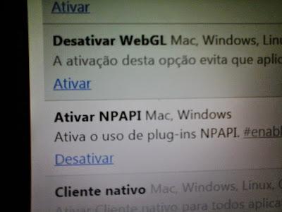 NPAPI ativando no google chrome