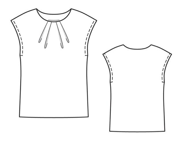 Cosas de Butterflies: Diy tutorial con patrón gratis de blusa o ...