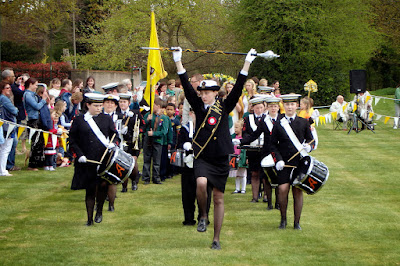 2013 The Band of the TS Ambuscade leads the procession onto the Common