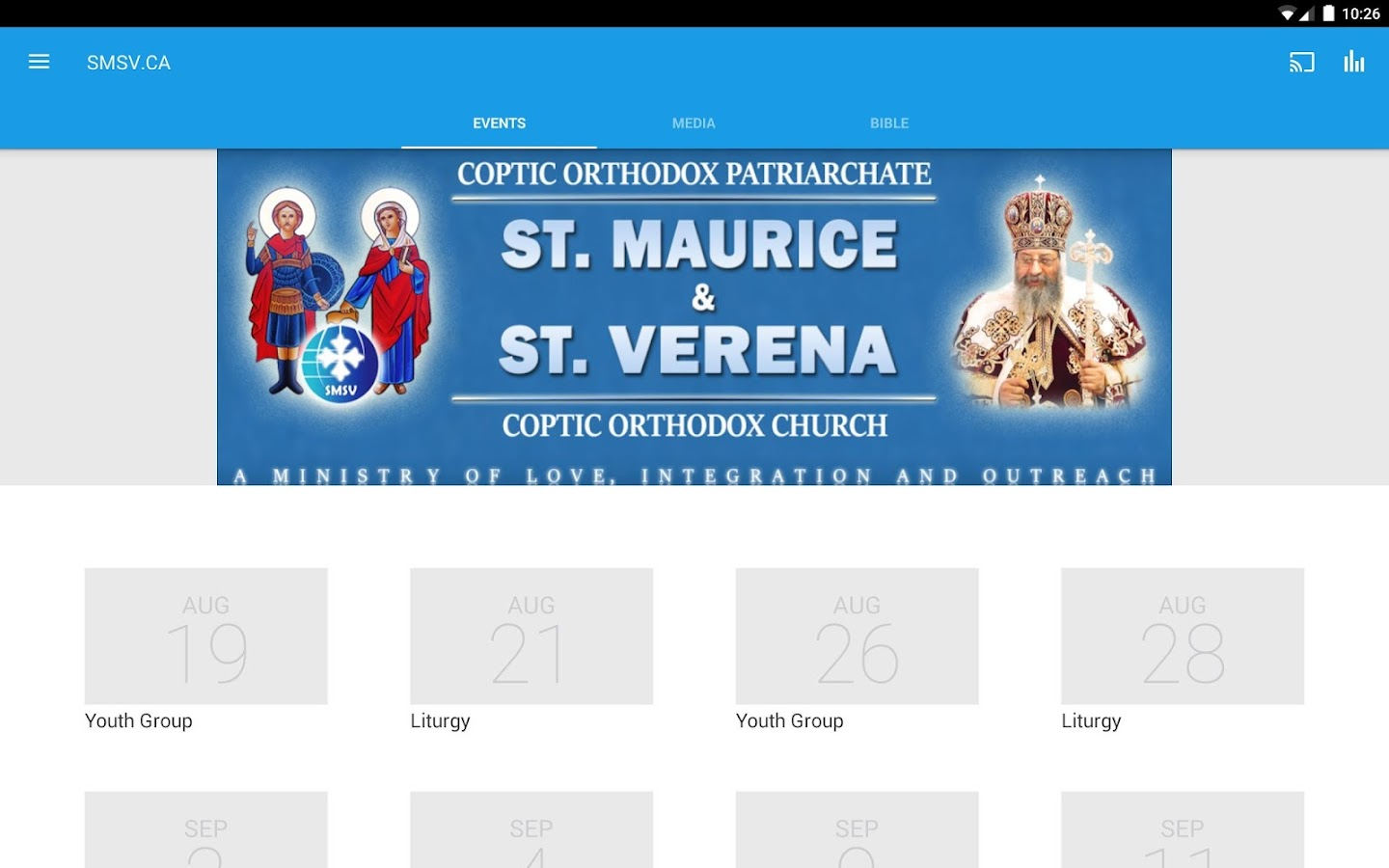 St. Maurice and St. Verena COC- screenshot
