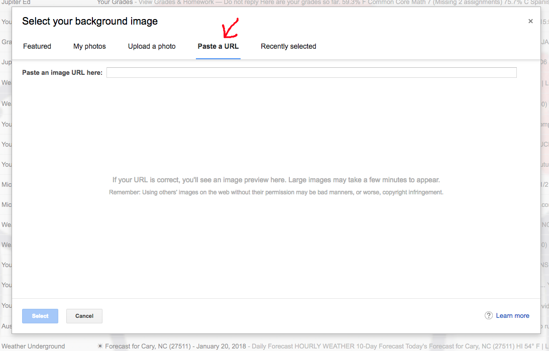 How do I get my gmail background a gif? - Gmail Súgó