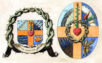 Alchemical Heraldry From D Lagneau Harmonie Chymique 1636, Alchemical And Hermetic Emblems 2