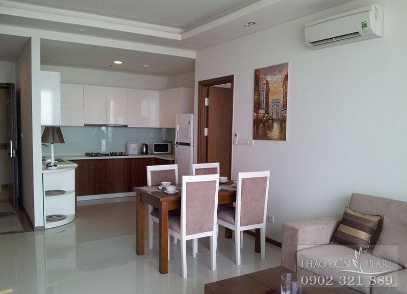 Cho thuê căn hộ 2 phòng ngủ view toàn cảnh khu Thảo Điền và sông Sài Gòn