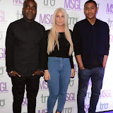 WWW.ENTSIMAGES.COM -     Melvin Odoom, Charlie Hedges  and Rickie Haywood-Williams arriving at      The MediaSkin Gifting Lounge at Stamp 79 Oxford Street London November 6th 2014                                                 Photo Mobis Photos/OIC 0203 174 1069