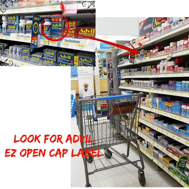 Advil EZ open cap in Walmart