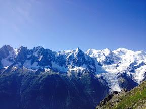 La chaine du Mt Blanc