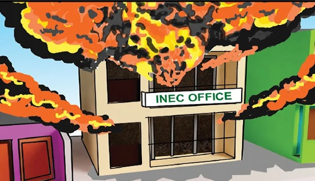 Hoodlums set Imo INEC office on fire