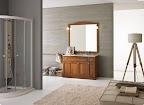 mobile da bagno classico modello COUNTRY cm. 140, disponibile in varie misure, t. noce o laccato
