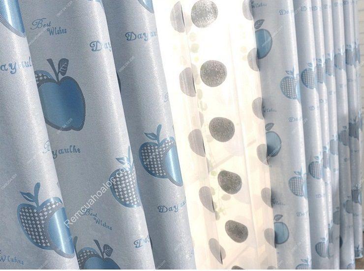 Màn cửa đẹp hà nội rèm quả táo xanh 4