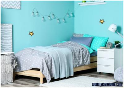 kamar anak warna pirus