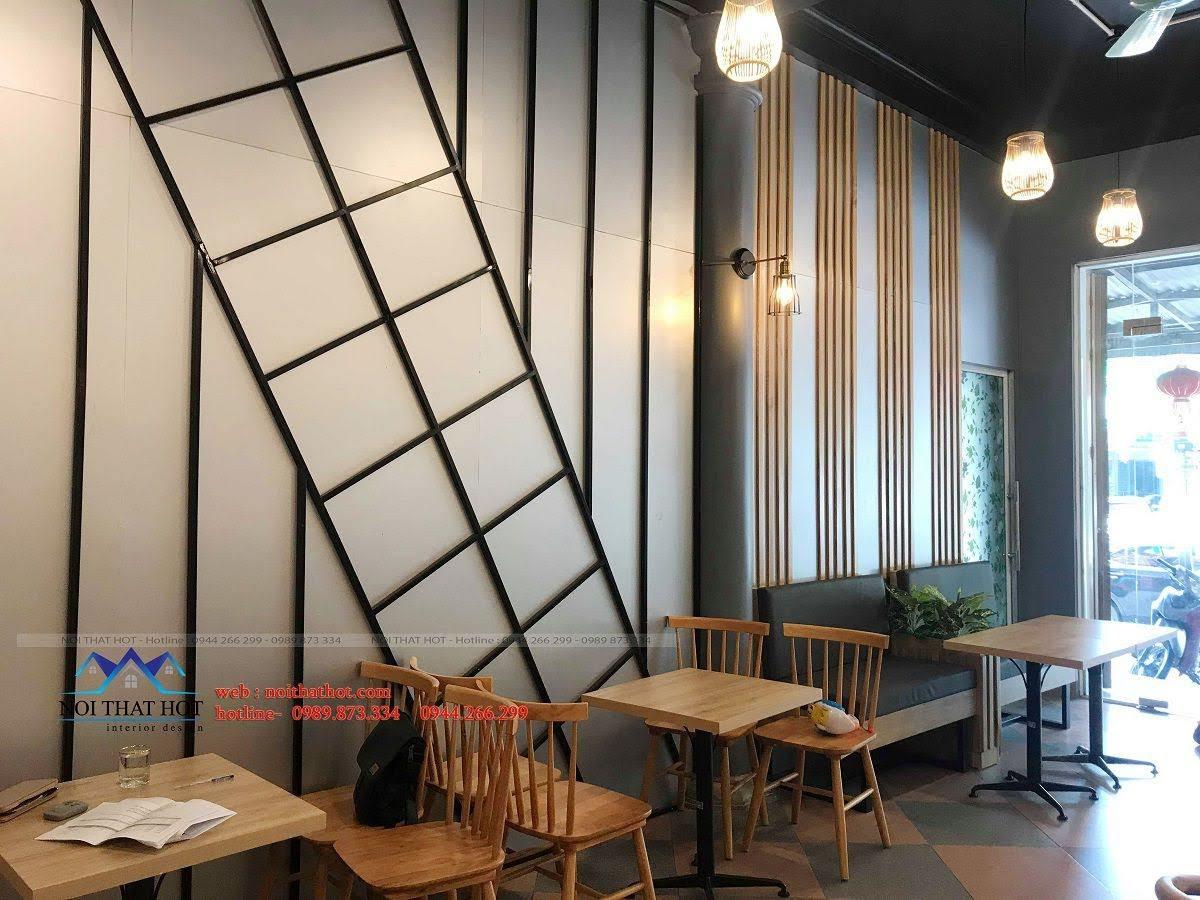 thiết kế quán trà sữa green 13