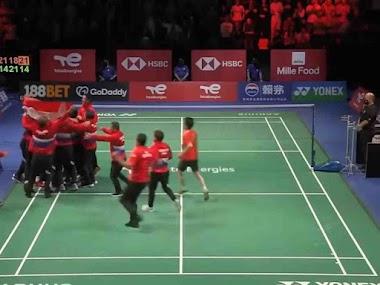 Indonesia Juara Thomas Cup, Usai Tekuk China 3 Set Beruntun